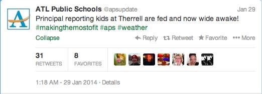 social media, twitter, atlanta public schools