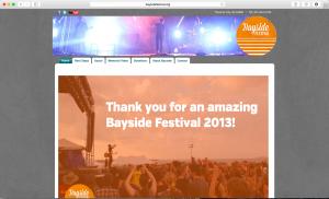 Bayside Festival Website